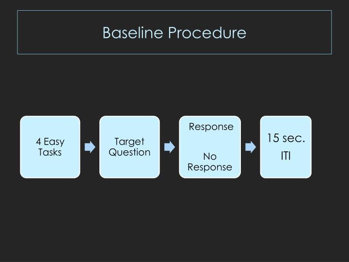 Baseline Procedure