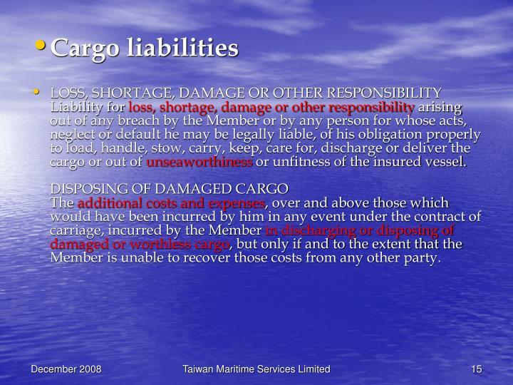 Cargo liabilities