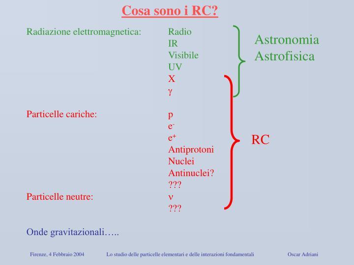 Cosa sono i RC?