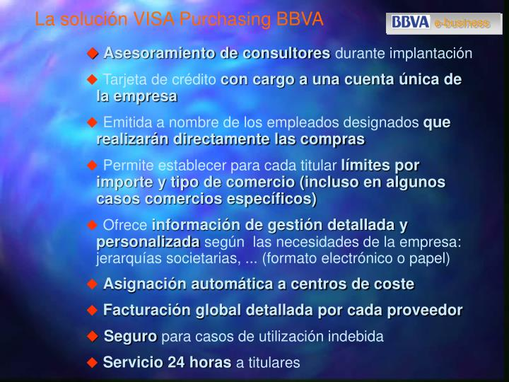 La solución VISA Purchasing BBVA