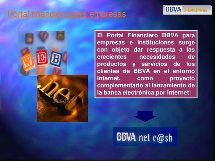 Portal financiero para empresas