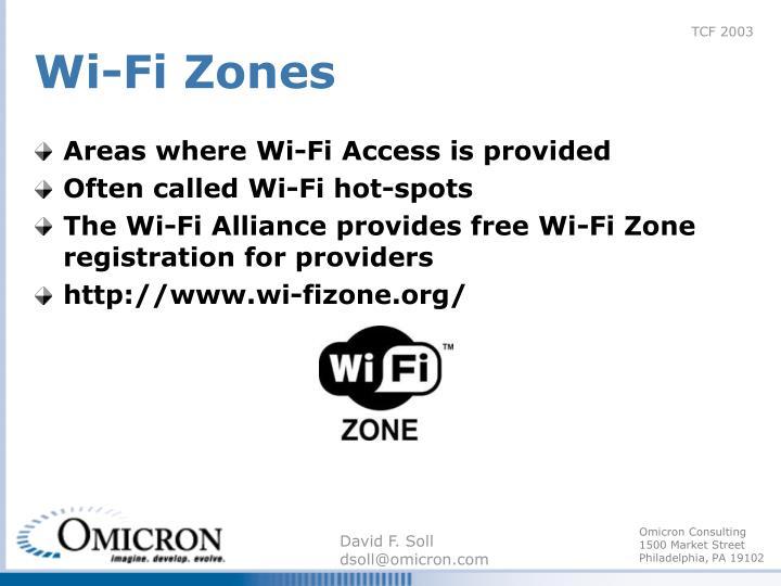 Wi-Fi Zones