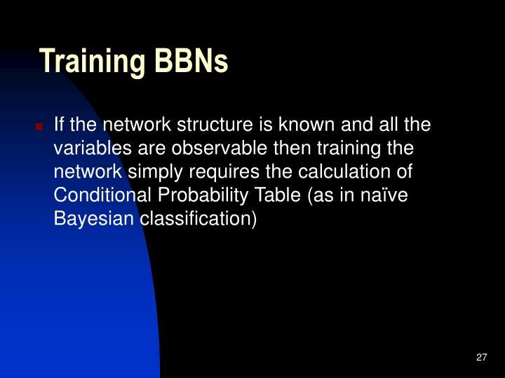 Training BBNs
