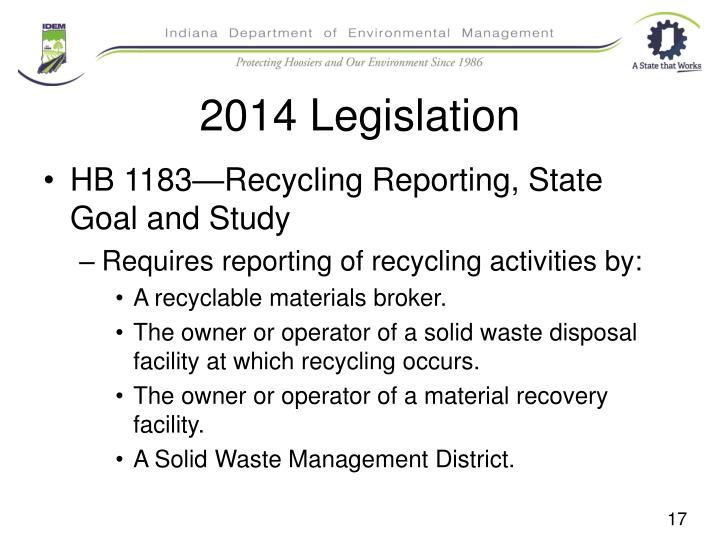 2014 Legislation