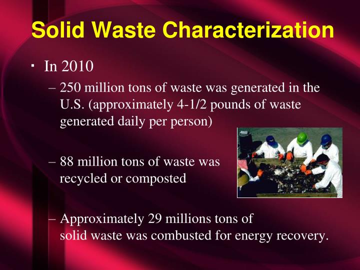 Solid Waste Characterization