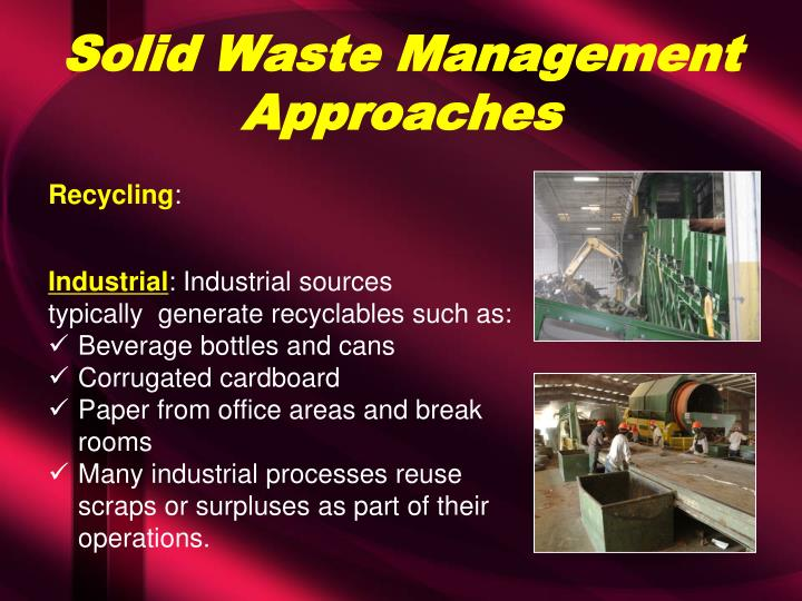 Solid Waste Management Approaches