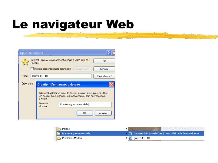 Le navigateur Web