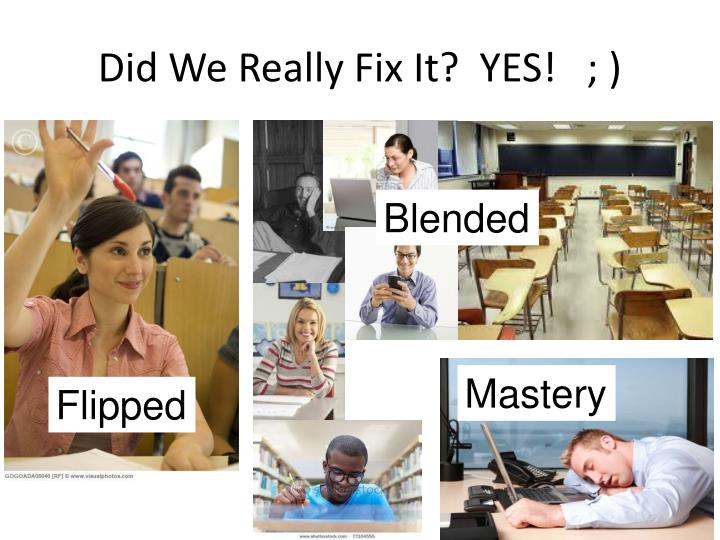 Did We Really Fix It?  YES!   ; )
