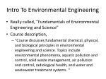 intro to environmental engineering