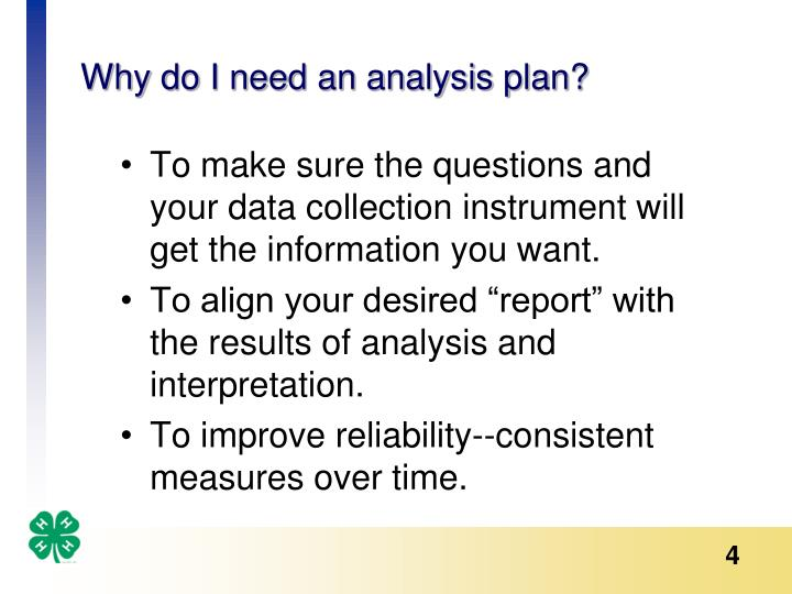 Why do I need an analysis plan?