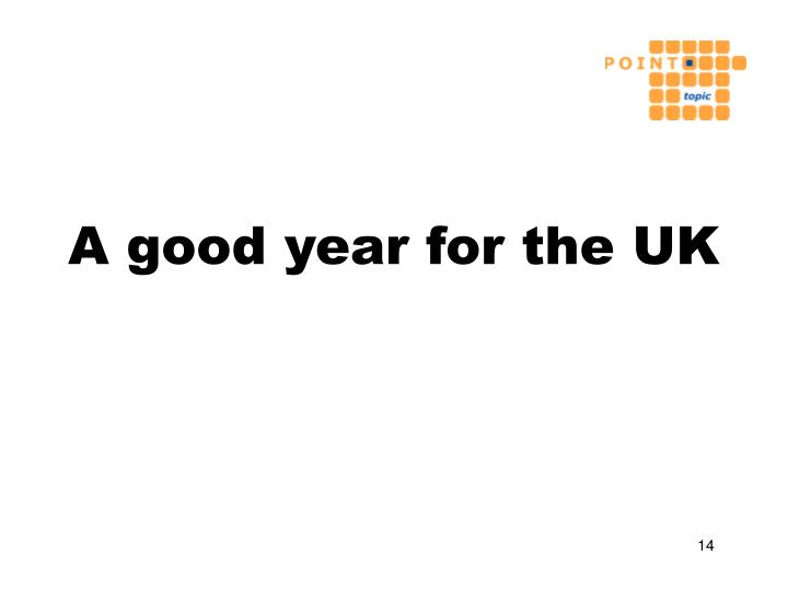 A good year for the UK