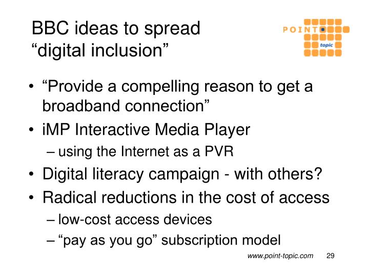 BBC ideas to spread