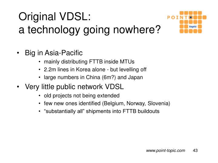 Original VDSL: