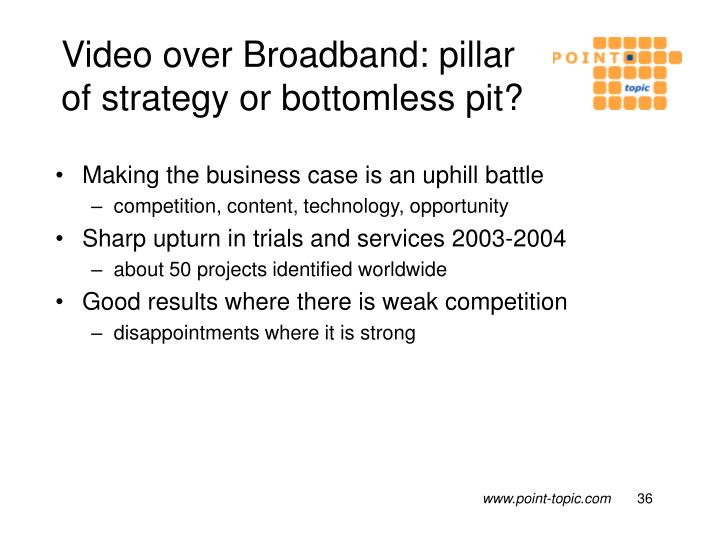 Video over Broadband: pillar of strategy or bottomless pit?