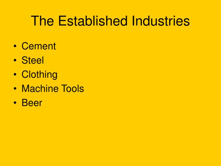 The Established Industries