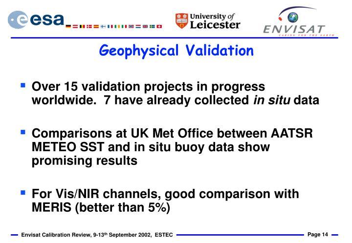 Geophysical Validation