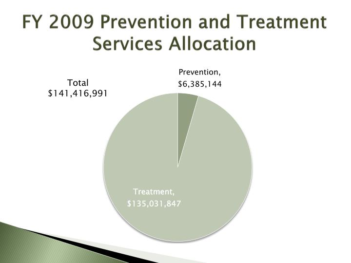 FY 2009 Prevention and Treatment Services Allocation