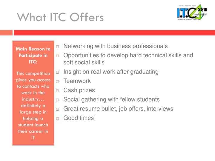 What ITC Offers