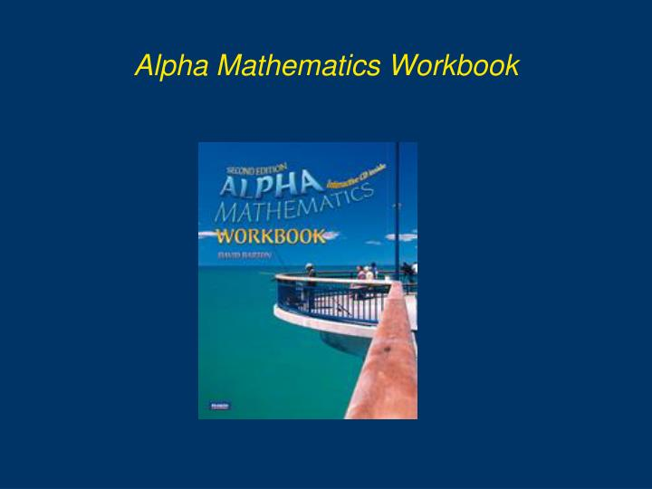 Alpha Mathematics Workbook