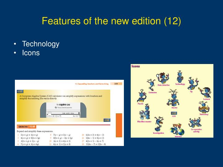 Features of the new edition (12)