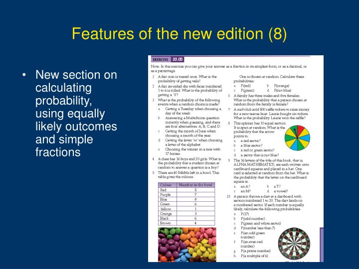 Features of the new edition (8)