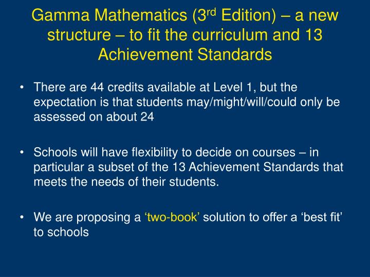 Gamma Mathematics (3