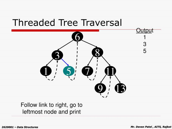 Threaded Tree Traversal