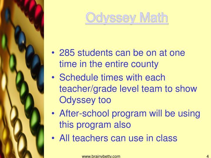 Odyssey Math