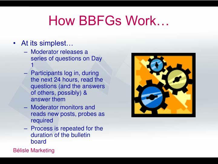 How BBFGs Work…