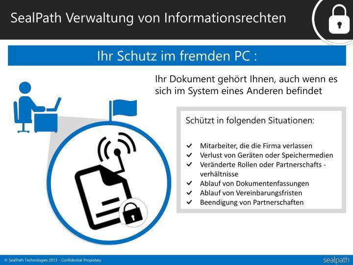 SealPath Verwaltung von Informationsrechten