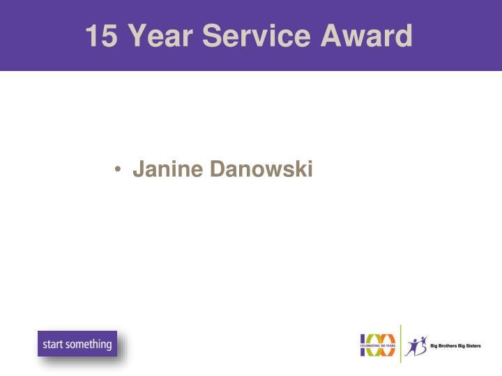 15 Year Service Award