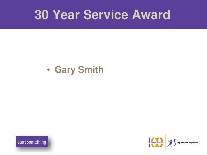 30 Year Service Award