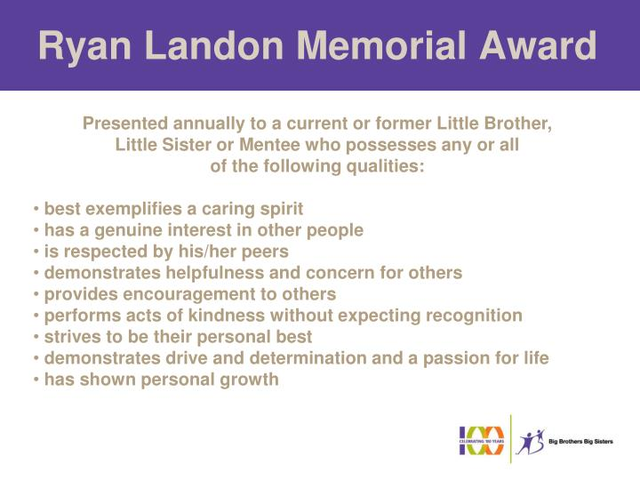 Ryan Landon Memorial Award