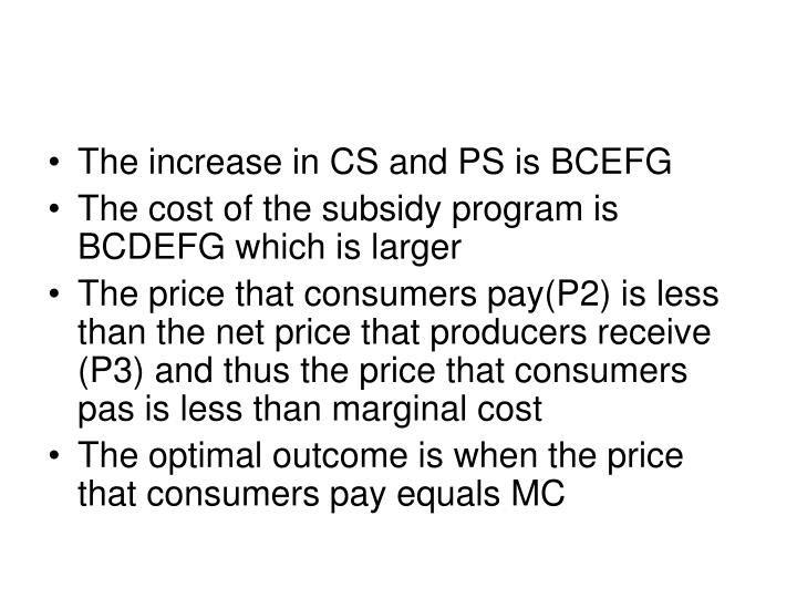 The increase in CS and PS is BCEFG