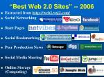 best web 2 0 sites 2006