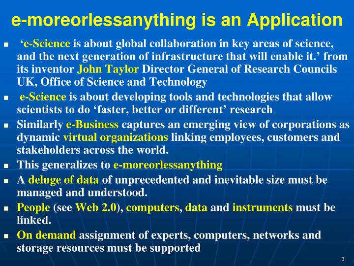 e-moreorlessanything is an Application