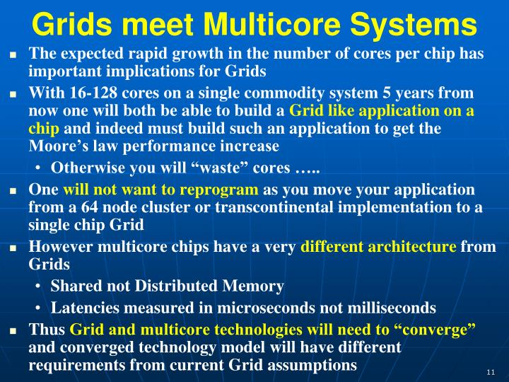 Grids meet Multicore Systems