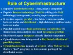 role of cyberinfrastructure