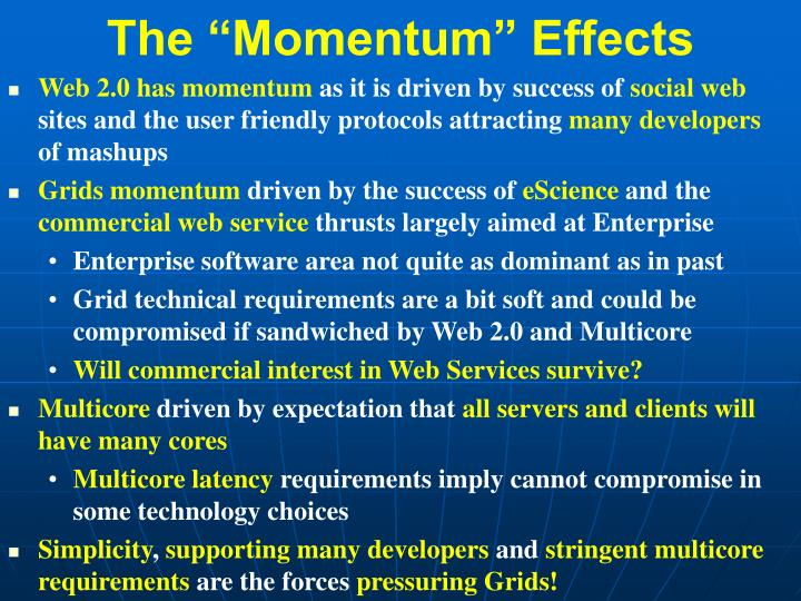 "The ""Momentum"" Effects"