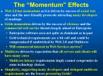 the momentum effects