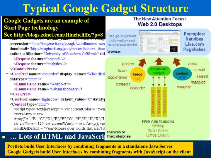 Google Gadgets are an example of
