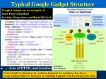 typical google gadget structure