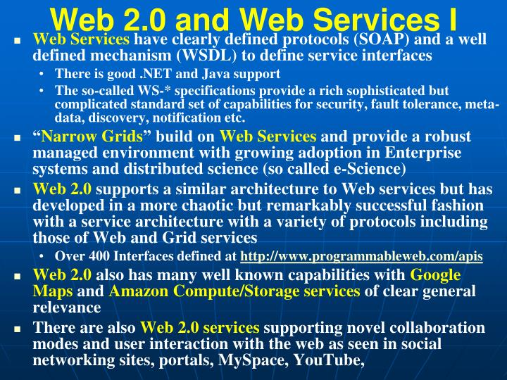 Web 2.0 and Web Services I