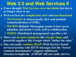 web 2 0 and web services ii