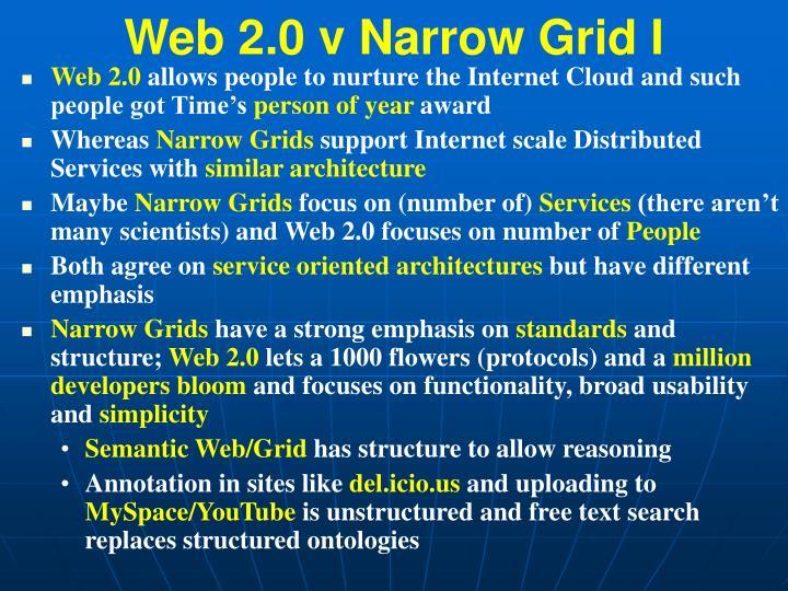 Web 2.0 v Narrow Grid I