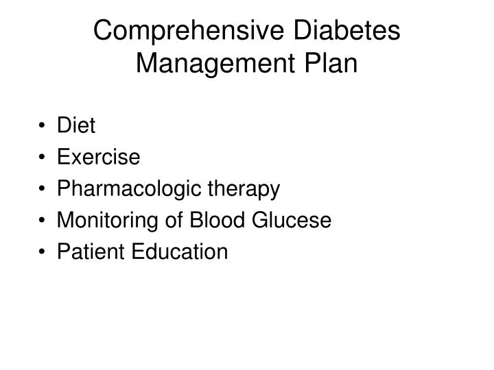 Comprehensive Diabetes Management Plan