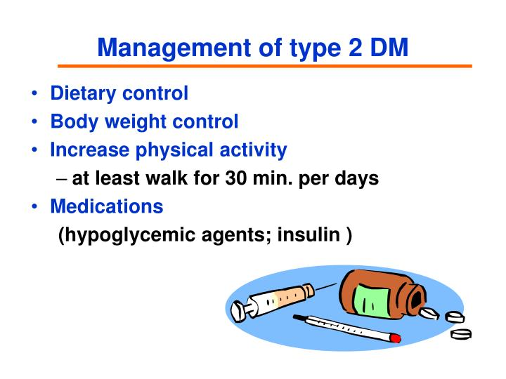 Management of type 2 DM