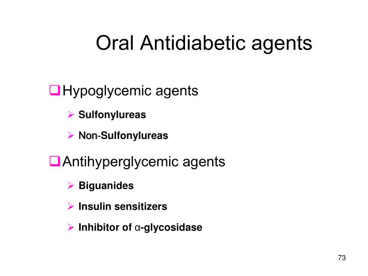 Oral Antidiabetic agents