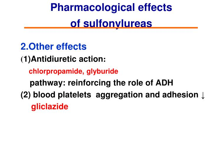 Pharmacological effects