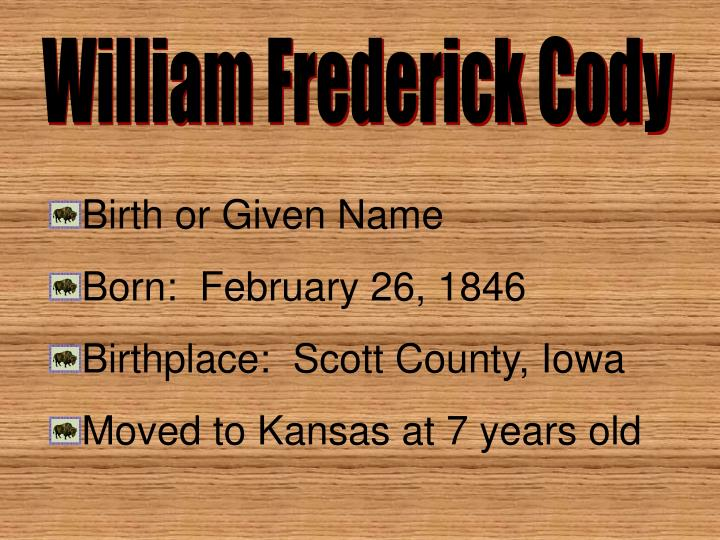 William Frederick Cody